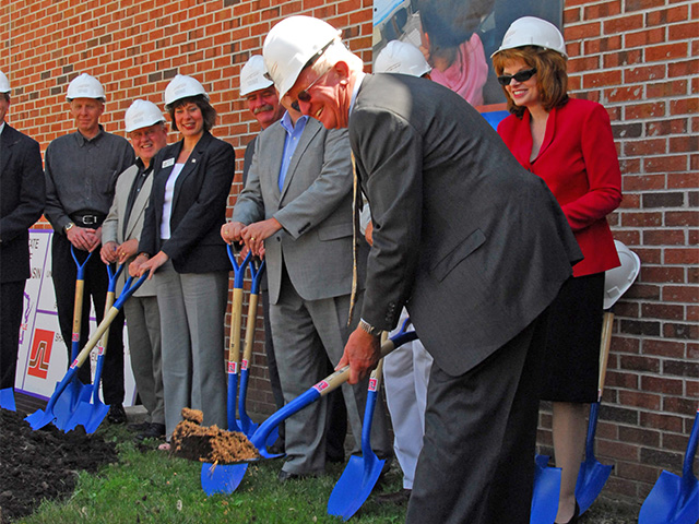 Jarvis Hall addition groundbreaking