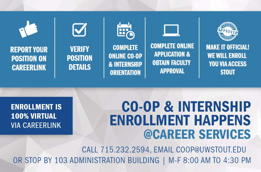 Co-op & Internship Enrollment graphic