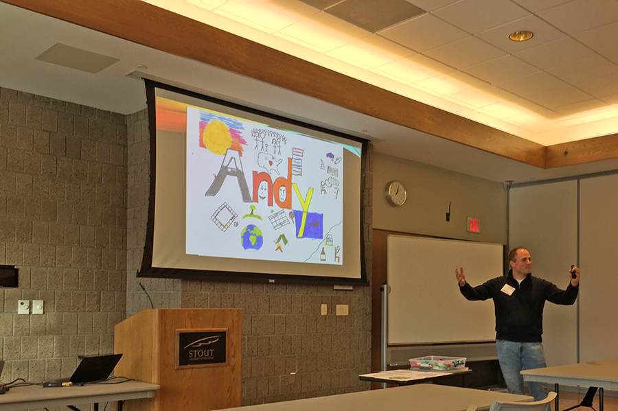 "UW-Stout assistant professor of rehabilitation and counseling Andy Felton talks about the use of ""Expressive Arts and Correctional Rehabilitation."""