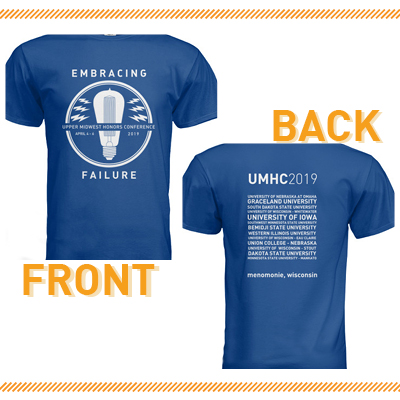 Limited Edition Conference T-Shirt designed by Honors College senior Emily Wyland