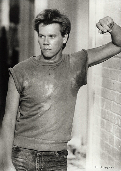 "Kevin Bacon in a publicity still from the movie ""Footloose."""