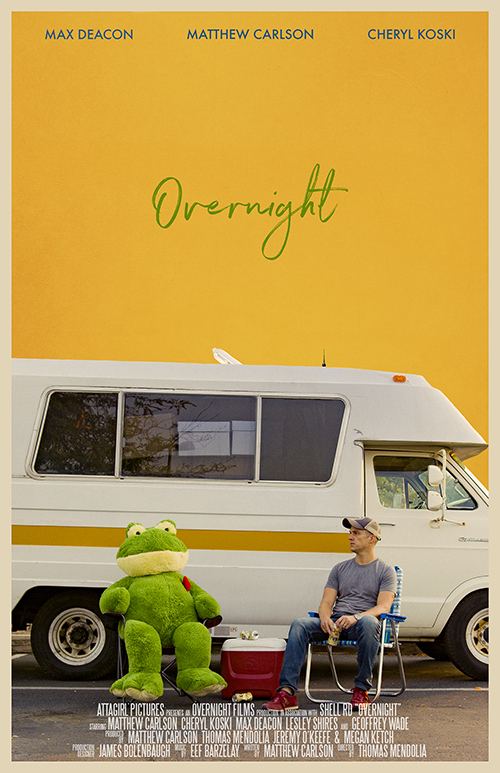 """Overnight"" is set in a Walmart parking lot."