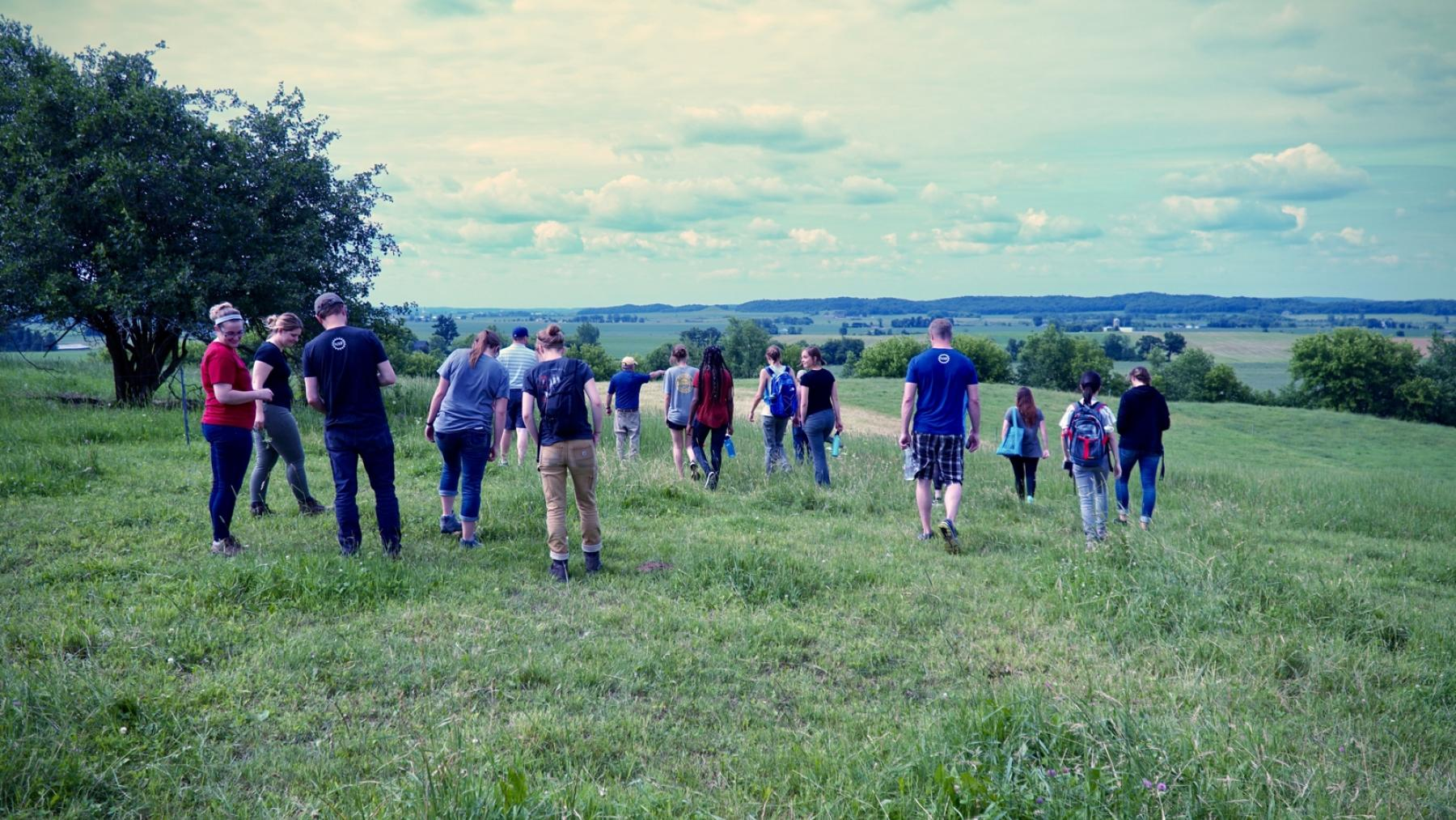 LAKES team on a pasture-walk researching sustainable agricultural management techniques