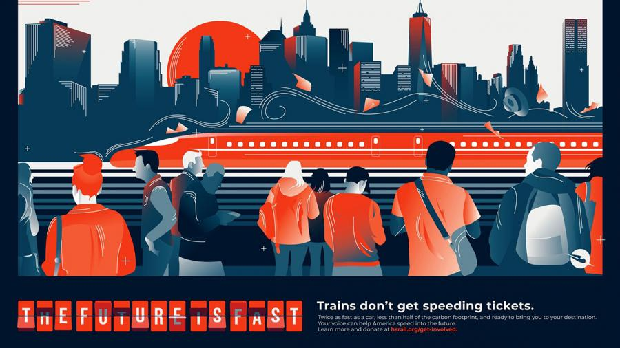 Lyndsey Johnson's American High Speed Rail advertising campaign received a gold award in the competition.