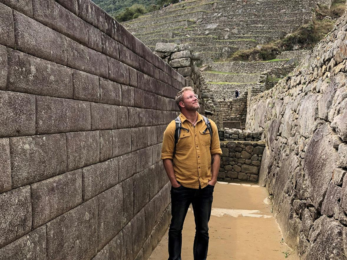 UW-Stout Associate Professor Nels Paulson at Machu Picchu in Peru. Paulson had a sabbatical last year to study how haute cuisine can empower biodiversity and communities.