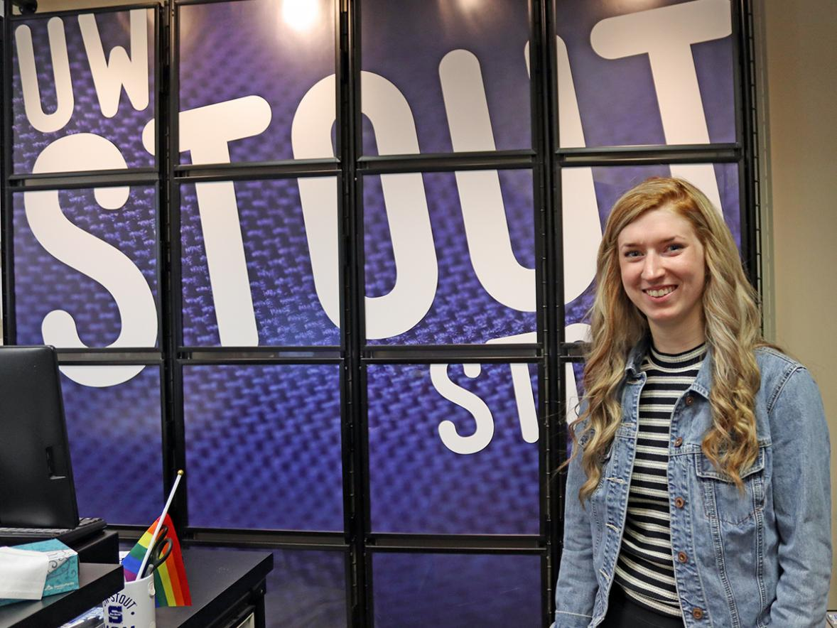 Madalaine McConville, a senior majoring in applied social science, is one of five UW-Stout students presenting at Research in the Rotunda at the Capitol in Madison on Wednesday, March 11.