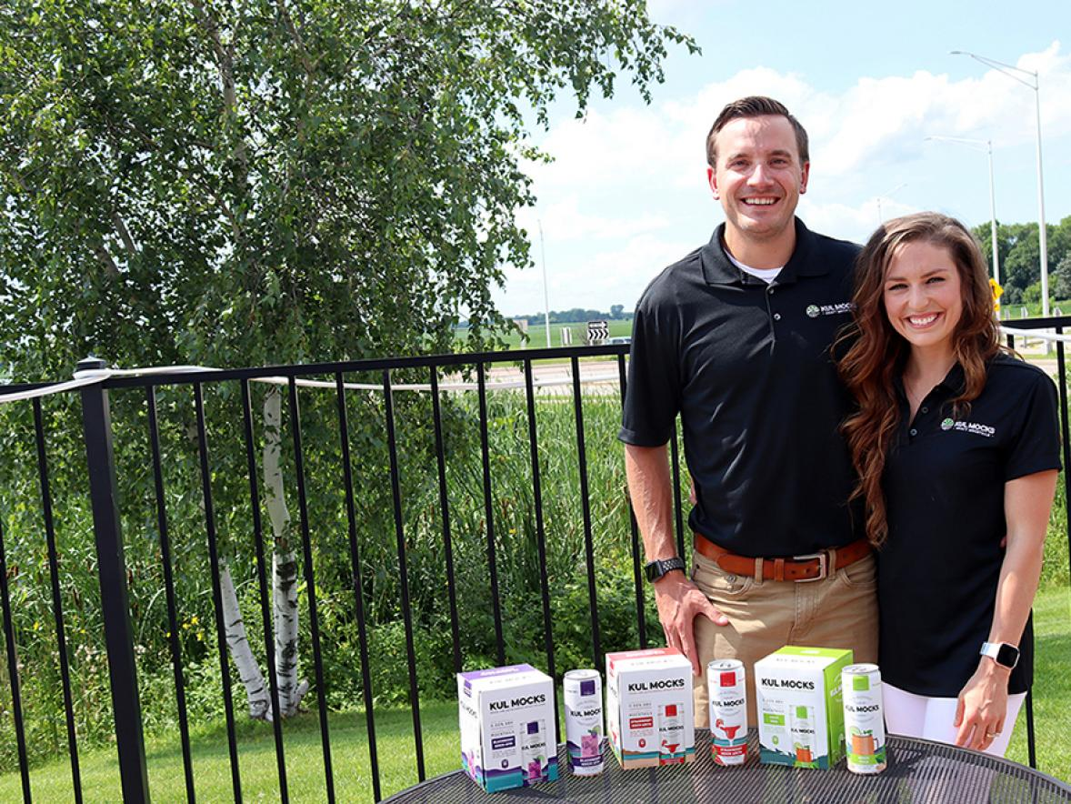 Nate and Danielle Goss, both UW-Stout alumni, have created a new ready-to-drink mocktail company.
