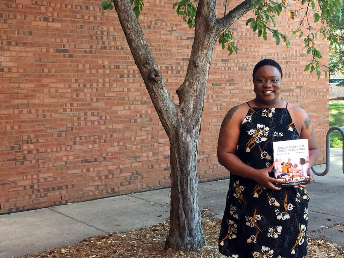 UW-Stout Assistant Professor Kimmery Newsom has co-authored a textbook to help students improve their understanding of diverse people and families and improve cultural competence. The book will be used in one of her classes this fall.