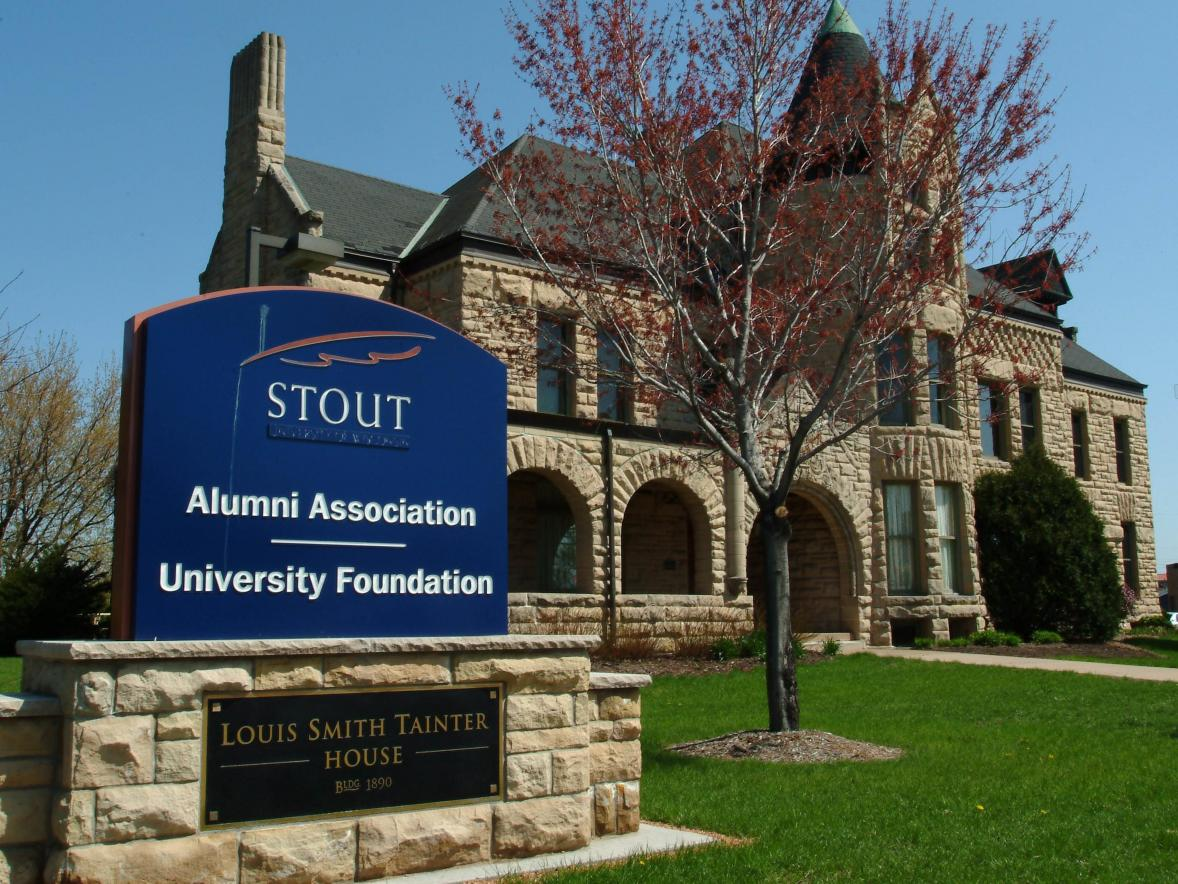 Stout University Foundation is in the Louis Smith Tainter House.