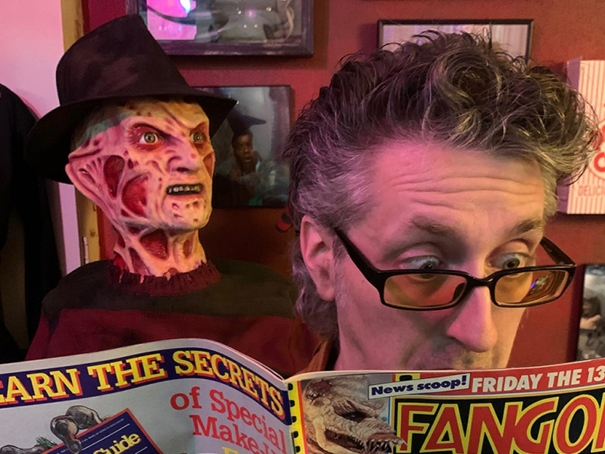 Michael Heagle, UW-Stout assistant professor in entertainment design, has written a book about 40 fright films from 1988.