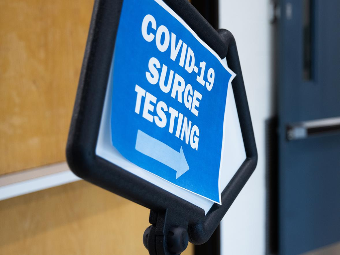 UW-Stout has offered COVID-19 surge testing to the community.