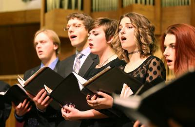 UW-Stout Symphonic Singers and Chamber Choir in concert, Fall 2016.