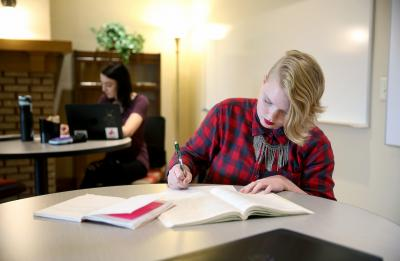 Students in the Writing Center, Harvey Hall