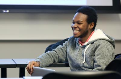 Deon Canon, UW-Stout student, in the Qualitative Research course