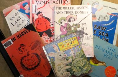 Vintage picture books donated by Dr. Menefee