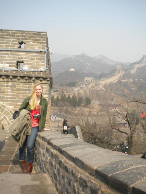 Kumerow at the Great Wall of China
